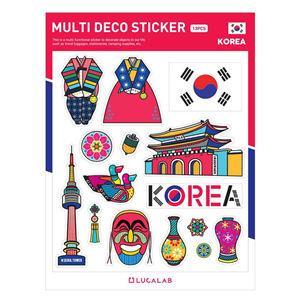 【韓國LUCALAB】世界風裝飾貼紙/韓國