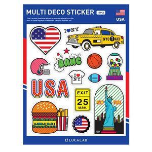 【韓國LUCALAB】世界風裝飾貼紙/美國