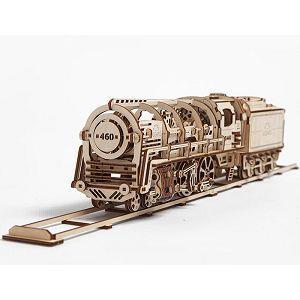 Ugears 自我推進模型 (Locomotive 蒸汽火車頭)