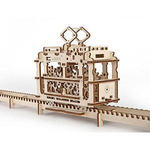 Ugears 自我推進模型 (Tram with rails 輕軌電車)