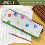 uhplus 手札筆袋-繽紛小宇宙(米)