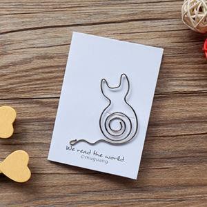 長尾貓‧迴魂針造型書籤卡