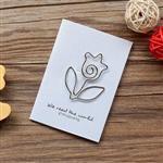 花朵‧迴魂針造型書籤卡