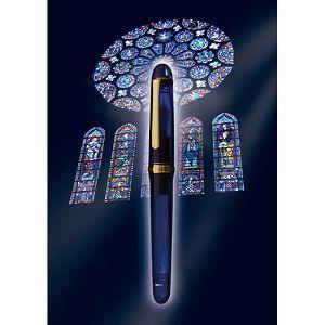 PLATINUM白金牌 3776系列 PNB-10000#51 14K鋼筆 教堂藍-F尖