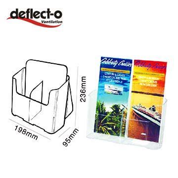 迪多Deflect-o雙格低背目錄架(1/3A4)-附隔板 74501