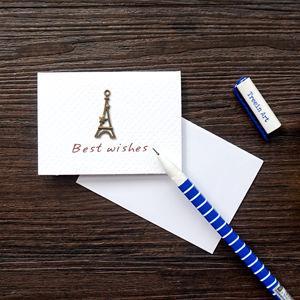 鐵塔‧祝福‧古銅裝飾萬用小卡