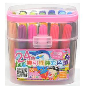 Soundy西瓜太郎24色桶裝彩色筆