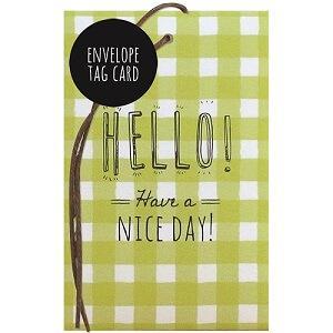 日本【LABCLIP】Envelope tag card系列萬用小卡-彩卡-綠色HELLO