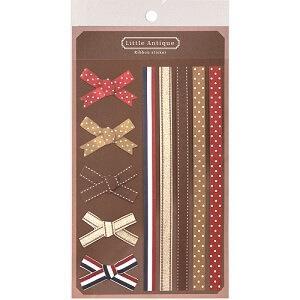 日本【LABCLIP】Little antique系列緞帶貼紙-紅