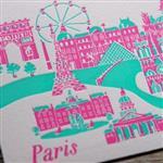 【iPaper】ditto ditto 活版印刷 明信片 活版印刷明信片 - 巴黎 PC1401