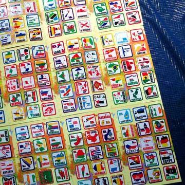 【衝浪小胖】世界國旗領土旅行箱貼紙組合(一套210款)/防水耐候
