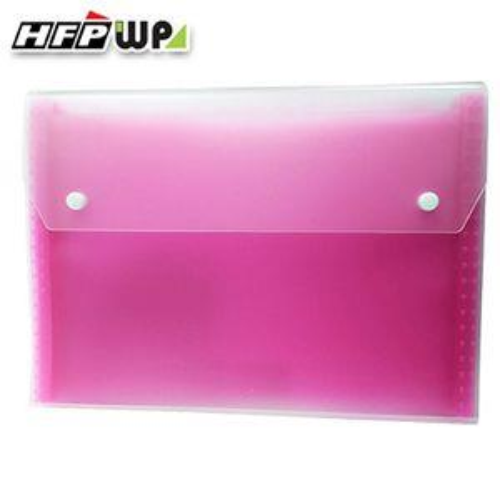 HFPWP 12層透明彩邊風琴夾(雙扣)-紅