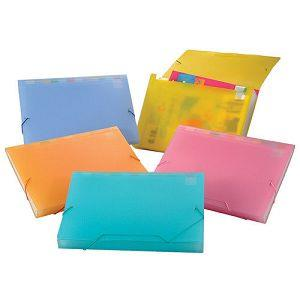 HFPWP 果凍色分層風琴夾 A4-紅