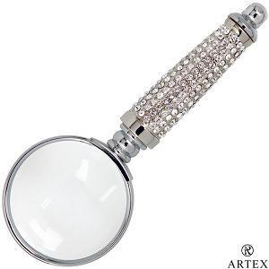 ARTEX 施華洛世奇元素 耀動水鑽放大鏡-清澈白(客製化刻字)