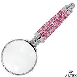 ARTEX 施華洛世奇元素 耀動水鑽放大鏡-甜心粉紅(客製化刻字)