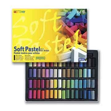 韓國 MUNGYO MPS-64 軟粉彩筆 粉彩條 (方短) 27mm Soft pastel