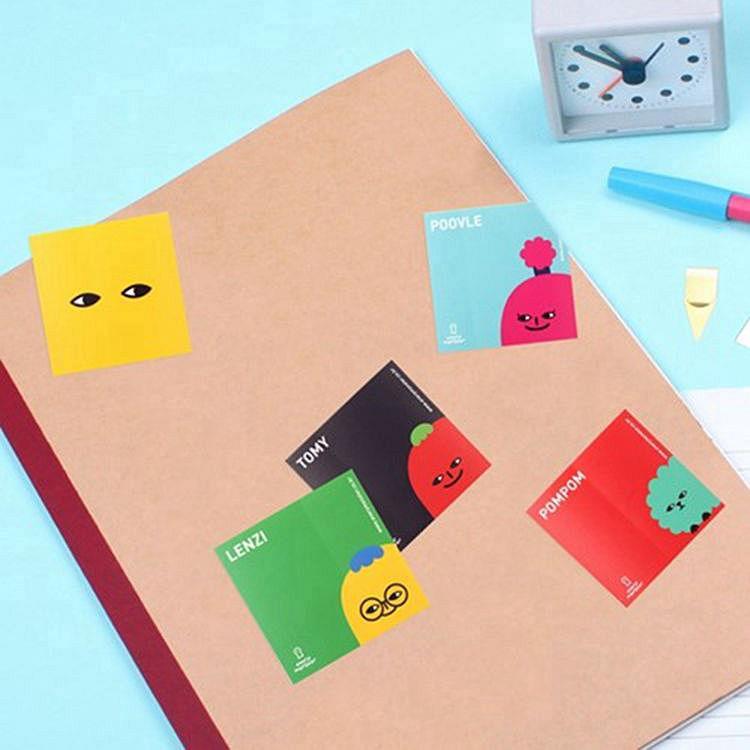 everymonster 小精靈方塊貼紙(5張/套)