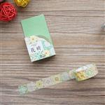 生活系列(花磚)和紙膠帶(1.5cmX7m)