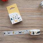 生活系列(貓咪後院)和紙膠帶(1.5cmX7m)