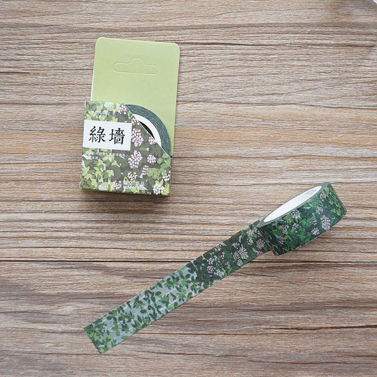 城市系列(綠牆)和紙膠帶(1.5cmX7m)