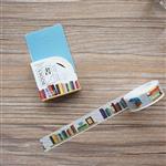 城市系列(書)和紙膠帶(1.5cmX7m)