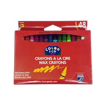 法國 COLOR&CO 兒童無毒蠟筆 48色