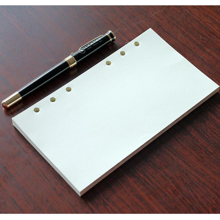 大包裝!介紙1.0 (鋼筆適用紙) / 48K空白6孔活頁紙特惠組-10入組