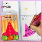 【ESTAPE】Memo造型隨手卡(桃紅-巫婆帽)