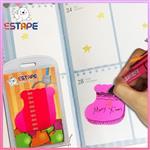 【ESTAPE】Memo造型隨手卡(桃紅-聖誕襪)