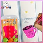 【ESTAPE】Memo造型隨手卡(桃紅-馬克杯)