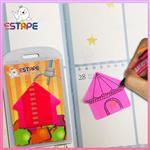 【ESTAPE】Memo造型隨手卡(桃紅-房子)
