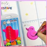 【ESTAPE】Memo造型隨手卡(桃紅-鴨子)