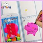 【ESTAPE】Memo造型隨手卡(桃紅-豬)