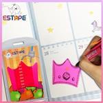 【ESTAPE】Memo造型隨手卡(桃紅-皇冠)