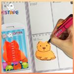 【ESTAPE】Memo造型隨手卡(橙-貓)