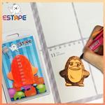 【ESTAPE】Memo造型隨手卡(橙-企鵝)