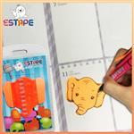 【ESTAPE】Memo造型隨手卡(橙-大象)