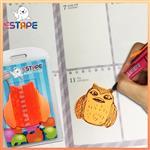 【ESTAPE】Memo造型隨手卡(橙-貓頭鷹)
