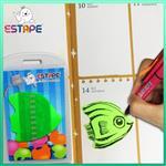 【ESTAPE】Memo造型隨手卡(綠-熱帶魚)