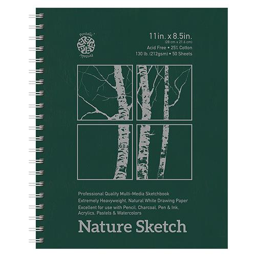 美國 BeePaper 綠皮大圈 素描 速寫本 11×8.5 (28×21.6cm)