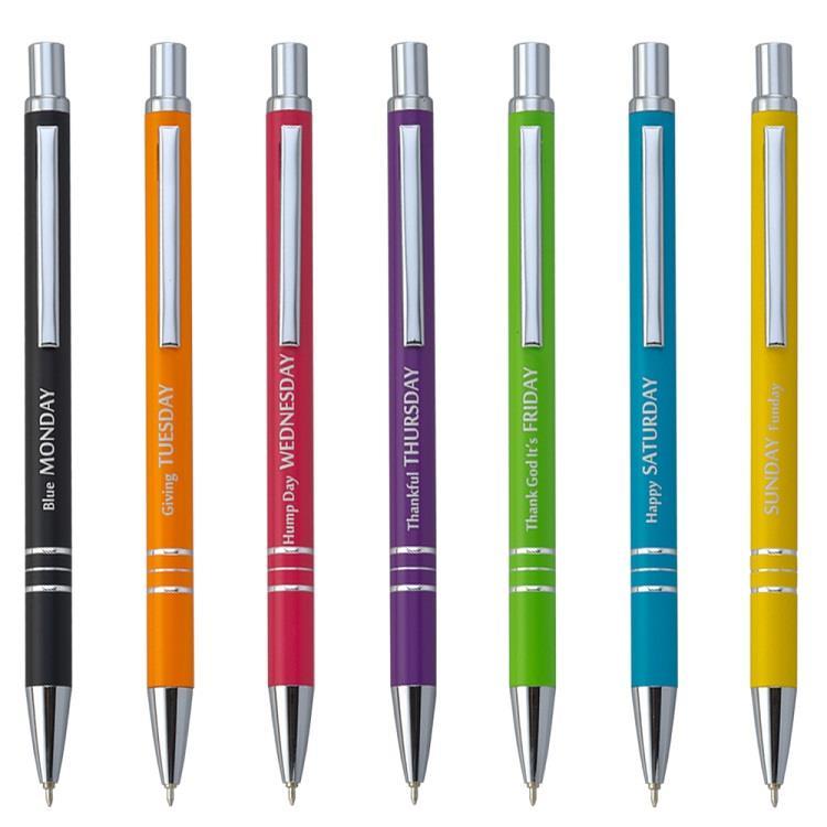 【IWI】Message Pen信息筆 0.5mm藍色油性原子筆-7支裝