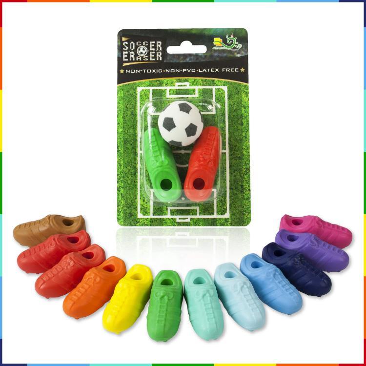 【允拓】足球&足球鞋橡皮擦組 (2鞋+1球)