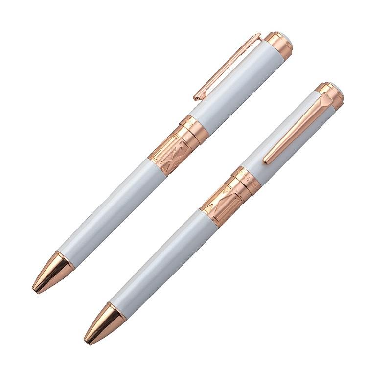 【Chris&Carey】Toki 時系列/素面珠光白原子筆(客製化刻字)