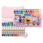【雄獅】CY101超滑水溶性蠟筆(粉紅盒)