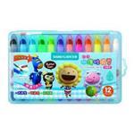 【雄獅】CY101超滑水溶性蠟筆(藍盒)