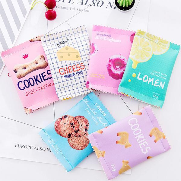 韓版迷你雙封口仿真零食餅乾拉鍊零錢包/卡片包