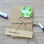 綠繡球‧牛皮紙手工立體小卡