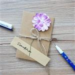紫繡球‧牛皮紙手工立體小卡