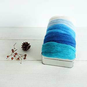 羊毛氈手創館【自然系】針氈用羊毛 - 藍天系