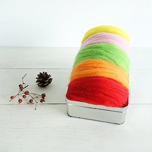 羊毛氈手創館【自然系】針氈用羊毛 - 花草系